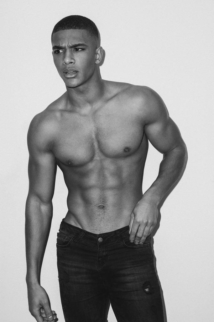 Nude brown skin boy models